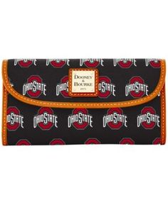 Dooney & Bourke Ohio State Buckeyes Large Continental Clutch - Black