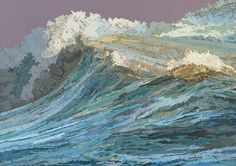 """Map collage of ocean waves."" Looking closely at this (larger image) is amazing. S"