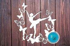 Paper cutting template depicting a ballerina/dancer. The finished papercut can be given to any dancer or ballerina. Once framed, it can be a