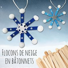 Flocons de neige en bâtonnets – Noël For this easy and fun Christmas DIY we will use wooden ice sticks … Handmade Christmas Decorations, Easy Christmas Crafts, Handmade Christmas Gifts, Simple Christmas, Kids Christmas, Christmas Snowflakes, Christian Christmas Crafts, Teacher Christmas Gifts, Popsicle Stick Crafts