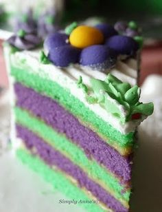 ube and pandan cake! and many other ube recipes! omg i wanna make them all and I love the website name :)