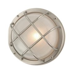 Design Classics Bulkhead Marine Outdoor Ceiling / Wall Light - 8-Inches Wide 39456 SS