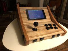 A RetroPie Console Retropie Arcade, Bartop Arcade, Arcade Stick, Arcade Games, Portable Game Console, Diy Arcade Cabinet, Borne Arcade, Raspberry Pi Projects, Woodworking Plans