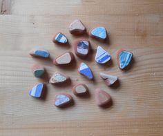 Genuine sea pottery, Colorful small beach pottery,  fantasy mix Sea pottery, 16 pieces sea pottery, jewelry, crafts, art    lotto 257 di lepropostedimari su Etsy