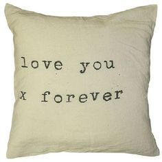 Sugarboo Designs Love You X Forever Pillow | Do you need a Valentine Gift for her? I'm sharing 16 unique, romantic  Valentine Gift Ideas for that woman that speaks the love language of  receiving gifts. Show her you care, listen, and love with these awesome ideas. #affiliatelink #afflink #decorating