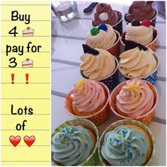 #cupcake #rabatt #erbjudande #helgmys #söndagsmys #fika #dessert #efterrätt #fint #gott #yummy #pretty #göteborg #linné #chocolate