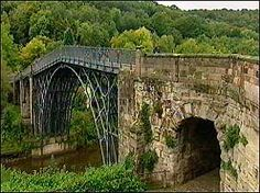 The world's first iron structure, and arguably the most important bridge ever built, the Iron Bridge, Shropshire Ironbridge Gorge, Telford, Shropshire
