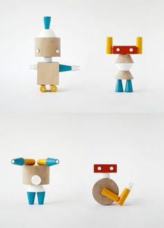 Prodiż   Robole ✭ wooden robots connected with magnets ✭ kids toy design    Pinned by www.thebonniemob.com   British designed unisex baby and kids fashion clothing brand for stylish little ones. The bonnie mob ship worldwide from the UK.