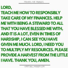 prayer for finances 21 Prayers For Finances To Say Right Now - Spiritually Hungry Prayer For Work, Prayer For Guidance, Prayer For Husband, Gods Guidance, Prayer For Peace, Night Prayer, Faith Prayer, God Prayer, Guidance Quotes