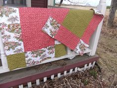 9 patch baby quilt by Andrea_R, via Flickr