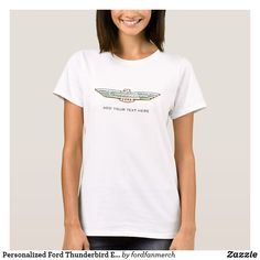 Personalized Ford Thunderbird Emblem / Logo Tshirt #zazzle #mrtbird #thunderbird #fordclassiccars #1950s #classiccars
