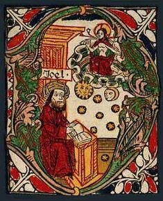 'D' - inicjał z Biblii Zainera wydanej w Augsburgu w r. 1475