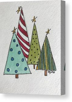 Painted Christmas Cards, Watercolor Christmas Cards, Christmas Card Crafts, Homemade Christmas Cards, Christmas Drawing, Christmas Paintings, Watercolor Cards, Xmas Cards, Christmas Art