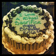 #16) A birthday Saturday sacrifice