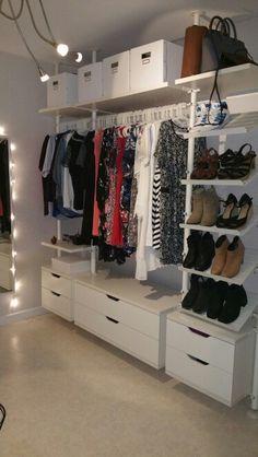 The Lovely Ikea Elvarli Open Wardrobe All Of My Clothing