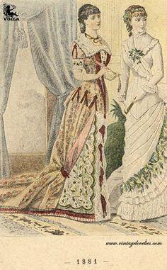 1881 Fashion Plates, Magazines, Women's Fashion, Painting, Art, Journals, Art Background, Fashion Illustrations, Kunst