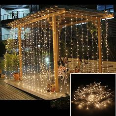 AGPtek 3Mx3M 300LED Linkable Fairy Curtain Lights Strings Connectable Lights 8 Lighting Modes for Wedding Ceremony Christmas Party Home Decoration Holiday Celebration-Warm White AGPtEK http://www.amazon.com/dp/B00OUPNVGG/ref=cm_sw_r_pi_dp_wQz3ub0G574VC