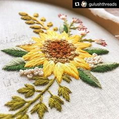 @gulushthreads #embroidery #bordado #broderie #ricamo #
