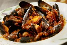 Mussels Marinara With Shaved Toasted Garlic (serves Mussels Marinara, Outdoor Cooking Area, Salsa Picante, Tapas Bar, Ceviche, Fish Dishes, Roasted Garlic, Fish And Seafood, Food And Drink