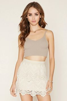 Tiered Crochet Mini Skirt #thelatest