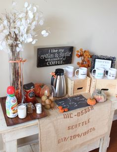 Thanksgiving Coffee Station
