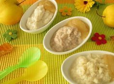 3 recetas de papillas de frutas para bebés de 4 a 6 meses