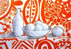 Still life on abstract background