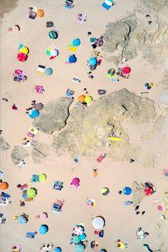 Gray Malin - LOVE beach umbrella scenes