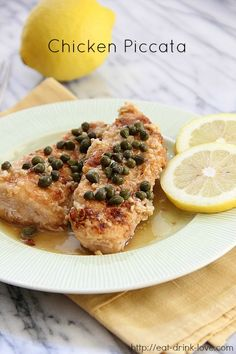 Flashback Friday: Chicken Piccata - I doubled the sauce recipe and it was a good thing I did. Made it with angel hair pasta noodles.