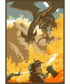 Serigraphie Dragon Age Inquisition par Arik Roper
