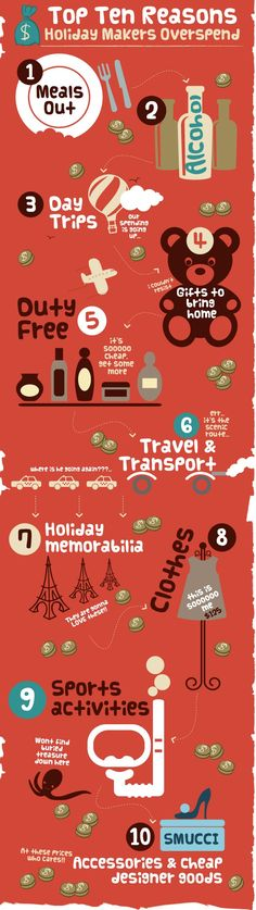Top 10 Reasons Why People Overspend On Vacations #Infographic
