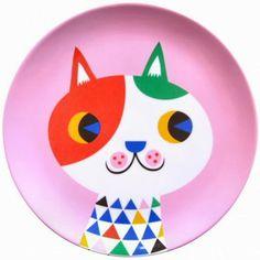 Melamine plates for Psikhouvanjou design by Helen Dardik