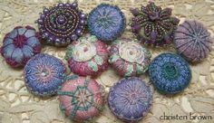 Tandletons=Tatted/needle lace/buttons online class with Christen Brown