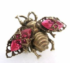 antique bee jewelry | Bee ring, Federikas vintage filigree jewelry. ... | Put a Bee on it!