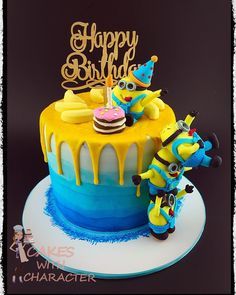 Minion Drip Cake - cakes_with_character