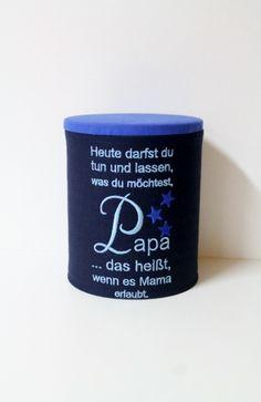 Aufbewahrungsdose+/+Spruch+Papa+von+xemiduro+auf+DaWanda.com