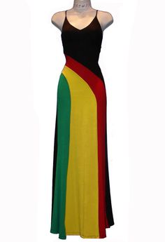 2 of my favorite things: a maxi dress and Rasta colors.