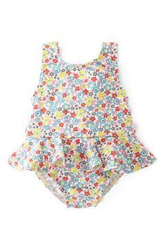 c2ba05ef7cc2 Mini Boden Ruffled Swimsuit (Baby Girls) available at  Nordstrom   babyswimtrunks Baby Girl