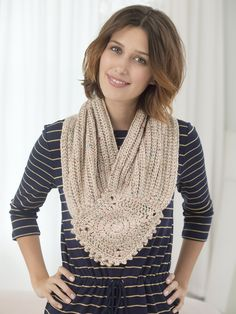 Brompton Abbey Cowl inspired by Downton Abbey, designed by Teresa Chorzepa.