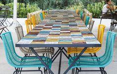 Mesa azulejos terraza - DyD interiorismo