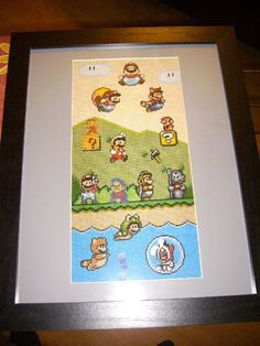 | Mario Through the Ages Cross Stitch Pattern ~free!~ |