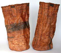 Joanne B Kaar, Handmade paper, waterproofed with fermemted persimmon juice.