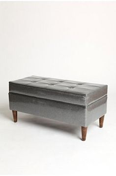 so pretty... gray velvet ottoman