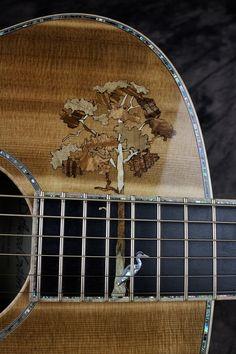 Tree inlay by master luthier Chris Alvarado of Driftwood Guitars Guitar Building, Ukulele, Driftwood, Guitars, Bass, Success, Artist, Inspiration, Ideas
