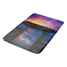 Sunset at Paradise Bay Bathroom Mat