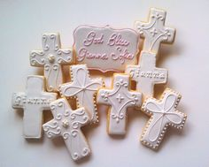 Baptism/Christening by Custom Cookies by Jill, via