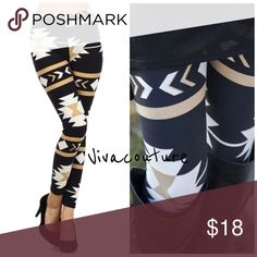 New Aztec Essential Leggings Add this fun Aztec print leggings to your fall wardrobe . One size stretchy elastic waist . Great with sweaters, Tunica and boots . Nwot . Receive 10% bundle discount on two or more items in my closet boutique . Click Add to bundle to create a multiple unit purchase or buy now for one item. Pants Leggings