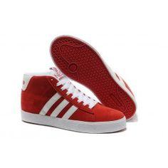 Adidas Vlneo Hoops Mid Shoes Rød Hvid Herre