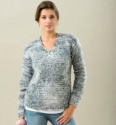 Un modèle demandé par certaines d'entre vous et très facile à tricoter :    Qualité TORNADE COLORIS METEORE...