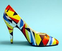 Airbrushed high heel shoes by Bruce Gray